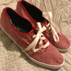 Keds Loves Taylor Swift Red Stripe & Dot Sneakers